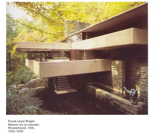 1935 39 f l wright maison sur la galerie du for Maison cascade